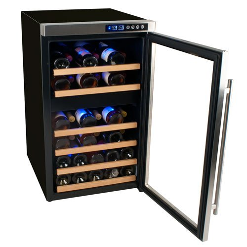 Edgestar CWF340DZ Dual Zone Wine Cooler-34 bottle