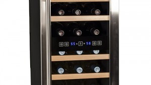 Koldfront TWR187ESS Free Standing Dual Zone Wine Cooler-18 Bottle
