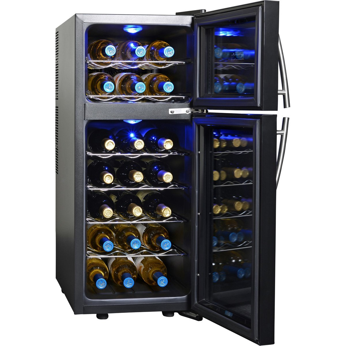 NewAir AW-210ED Dual Zone Thermoelectric Wine Cooler- 21 Bottle