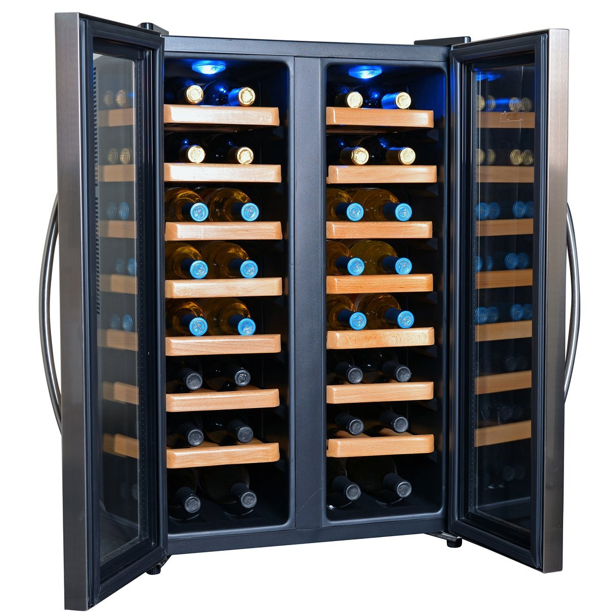 NewAir AW-321ED Dual Zone Thermoelectric Wine Cooler-32 Bottle