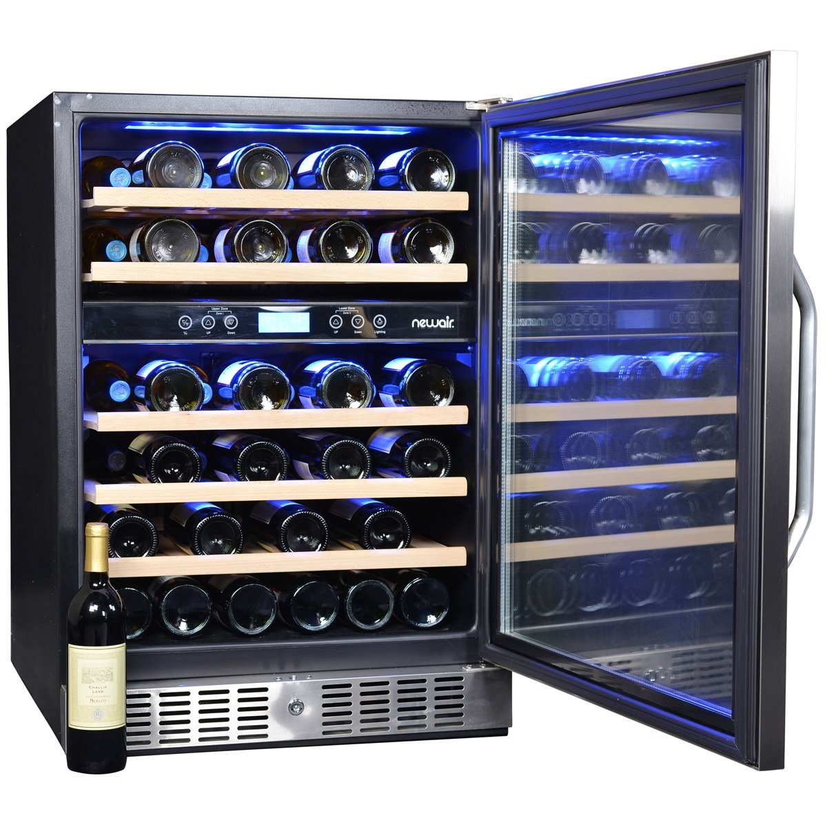 NewAir AWR-460DB Dual Zone Compressor Wine Cooler-46 Bottle