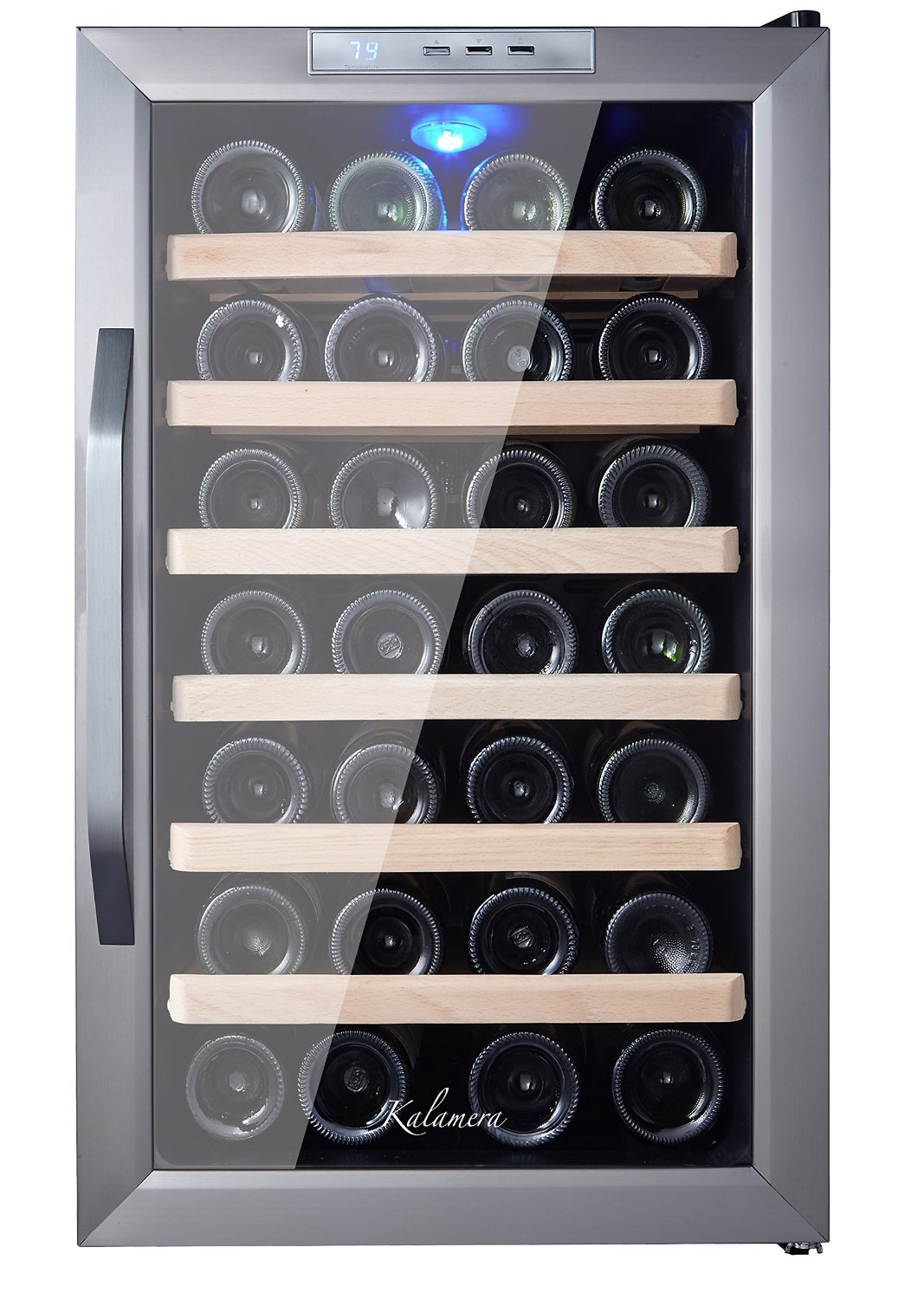 Kalamera KR-28ASS Stainless Steel Wine Cooler