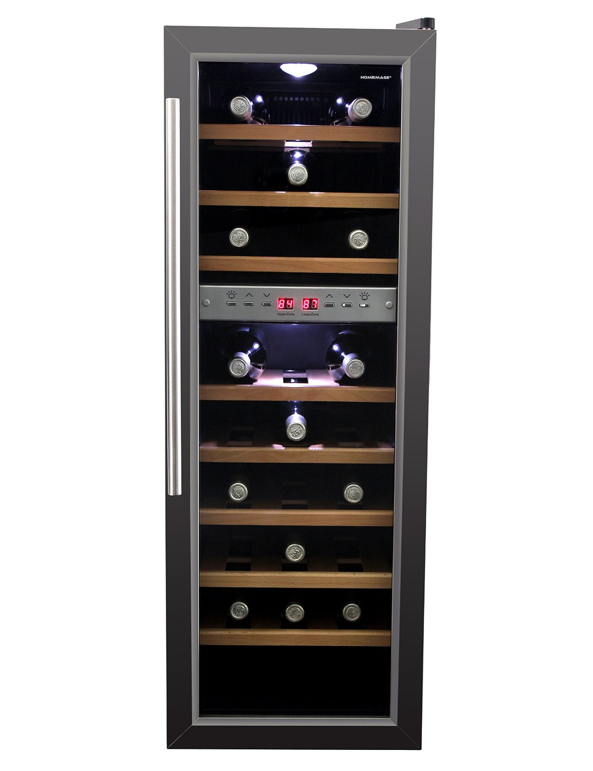dual zone wine cooler homeimage hi 27ss dual zone thermoelectric wine cooler 27 31169