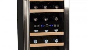 Koldfront TWR187ESS Free Standing Dual Zone Wine Cooler-18 Bottle