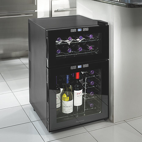 Wine Enthusiast Dual Zone Cooler 24 Bottle