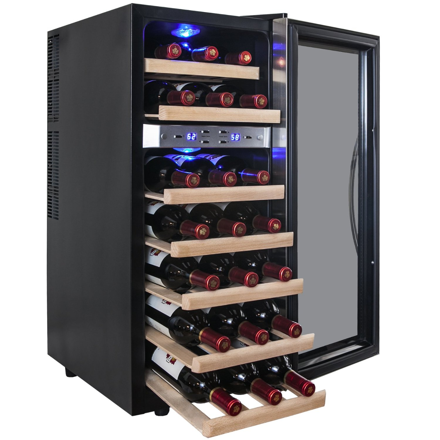 Akdy 21 Bottle Dual Zone Thermoelectric Wine Coolerwine
